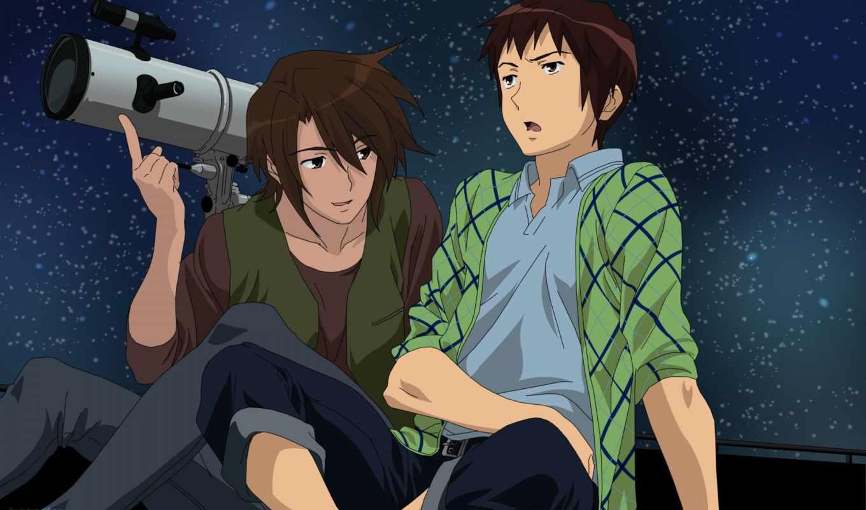 тоска, characters, haruhi, suzumiya, telescope, yuuutsu, kyon,