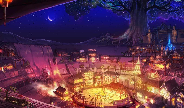 fantasy, art, city, amazing, download,