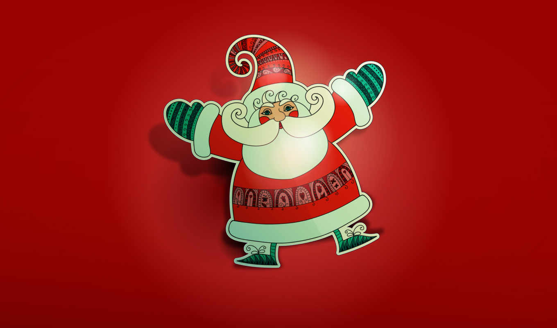 санта, клаус, claus, иней, дед, new, год, christmas, puzzle,