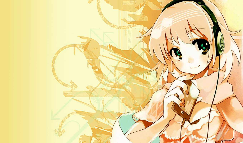 anime, девушка, baby, розовый, anim, cute, наушник, novocom