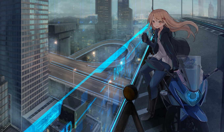 город, anime, небоскрёб, scus