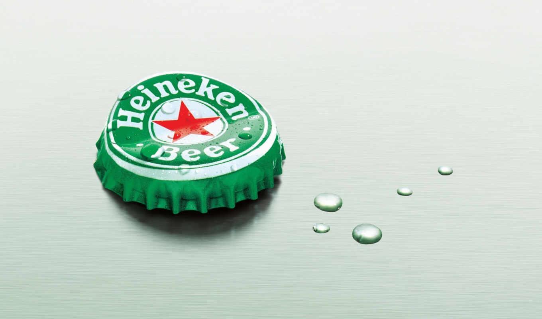 heineken, пиво, минимализм, крышка, капли, kam, plug, tis, cáp,