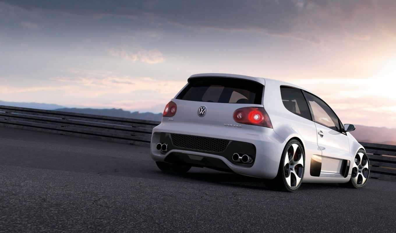 volkswagen, gti, golf, concept, vw, автомобили, car, cars, закат,
