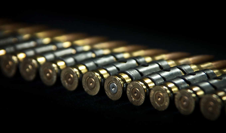 оружие, патроны, макро, лента, пулемёт