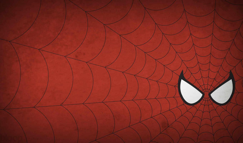 ,человек паук, паутина, красный, глаза