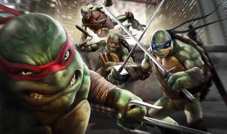 ninja, turtles, mutant, teenage, out, shadows,