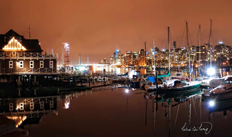 vancouver, nights, угли, гавань, this, город,