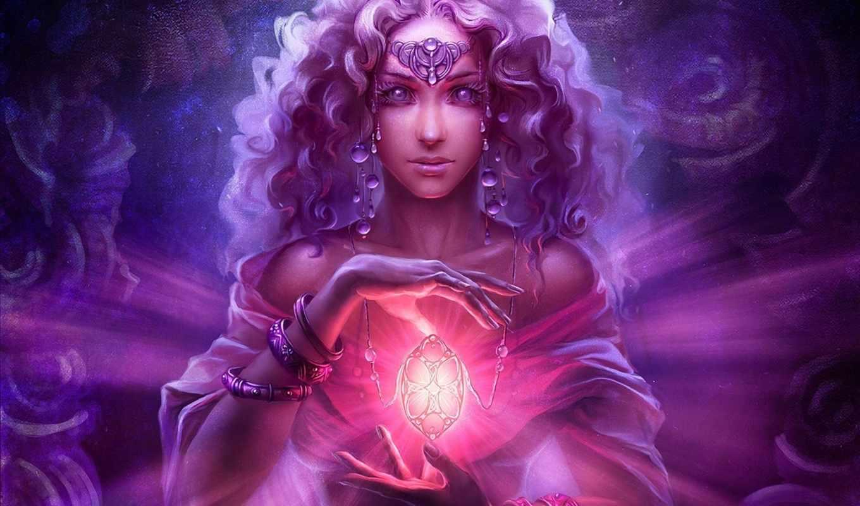 uildrim, арт, девушка, украшения, кулон, магия, браслеты, монитора, картинку, фантастические, качестве,