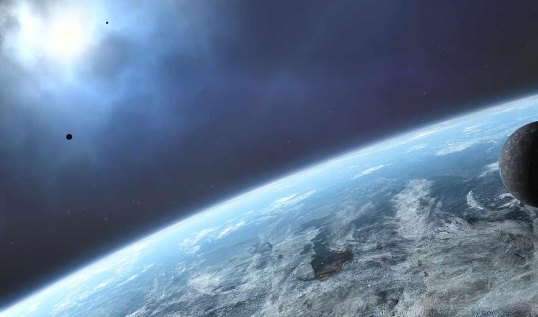 космос, планета, земля, картинка,