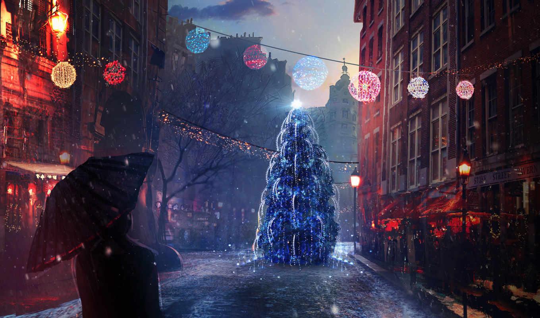 год, new, harmony, праздники, живопись, елка, здоровья, города, energy,