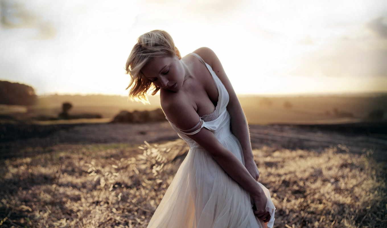 wallpapers, поле, you, девушка, girl, блондинка, secret, hd, девушки, платье, код, белом, твоего, осеннем, марта,