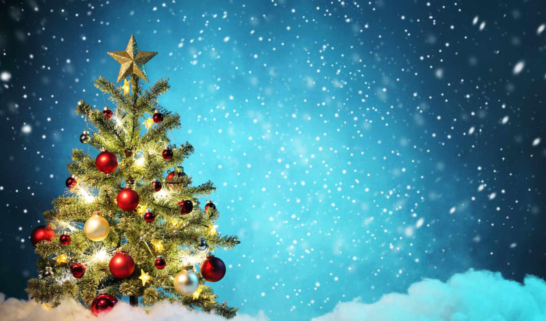 christmas, дерево, год, merry, new, decoration, новогодняя,