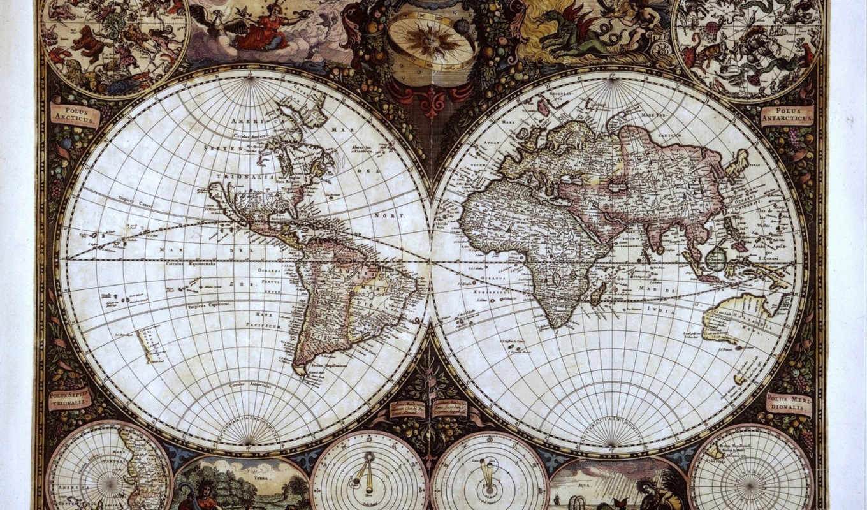 карта, мира, карты, старинная, старинные, разное,