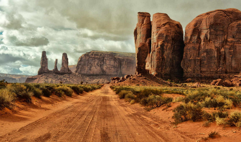 arizona, долина, памятник, usa, дорога, монументов,