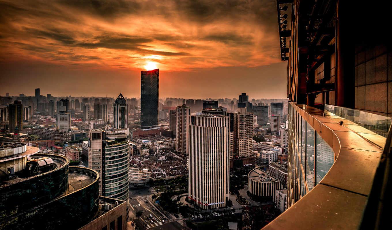 shanghai, china, huangpu, хуанпу, мегаполис, небоскребы,