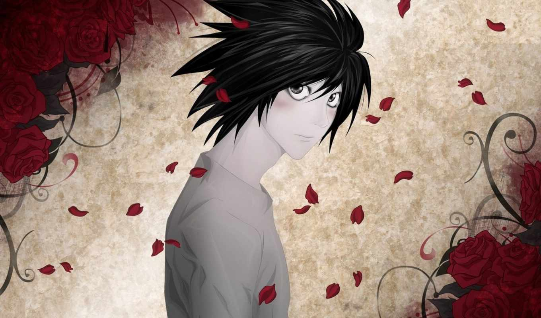 смерть, нота, смерти, notebook, anime, members, только, героями,