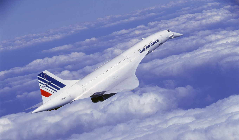 concorde, aircraft, конкорд, полет, облака,