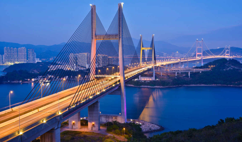мост, нов, цинма, гонконге, china, мосты, tsing, отдохнем,