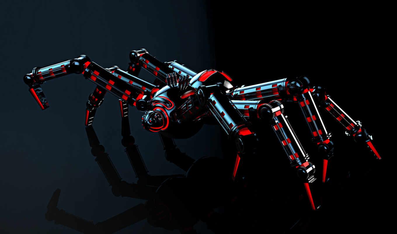 паук, свет, взгляд, robot, механизм,