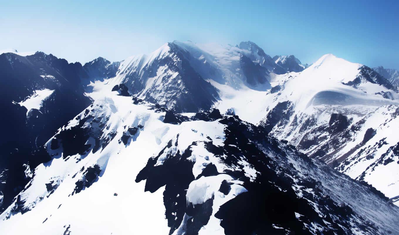 горы, природа, new, iphone, белоснежные, снег,
