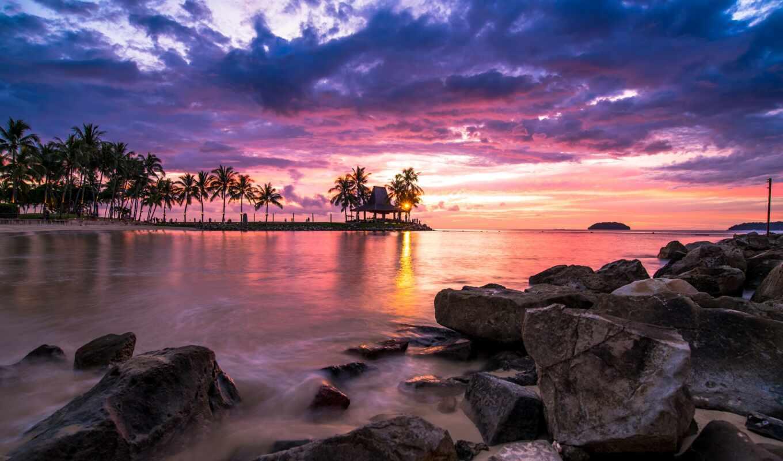закат, free, shirokoformatnyi, биг, resort, красивый, море