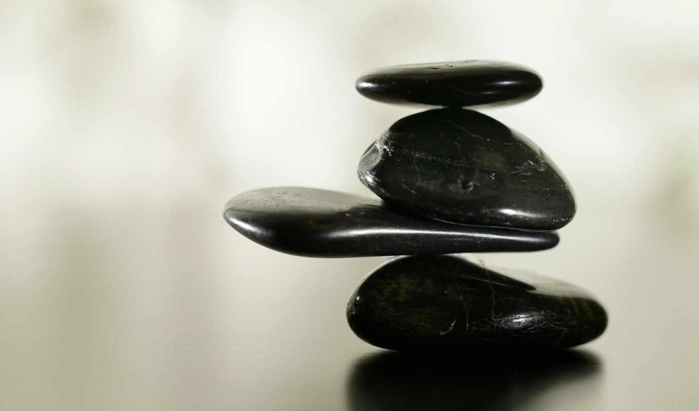 камни, balance, блики, галька, белый, черный, картинка, und, картинку,