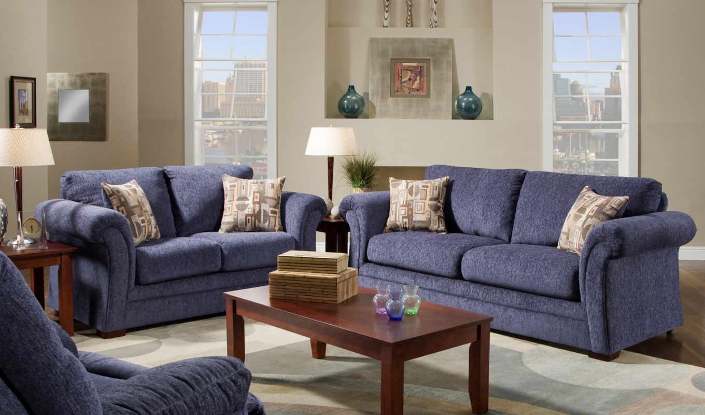 living, room, blue, modern, design, best,