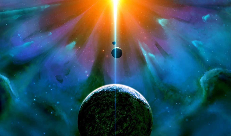 universe, свет, planet, спутник, звезды, космос,