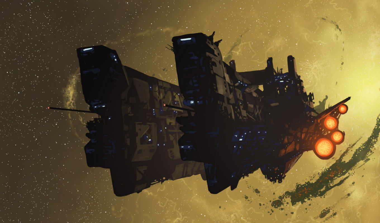корабль, космос, картинок, огни, spacecraft, заставка, фэнтези, full, телефон,