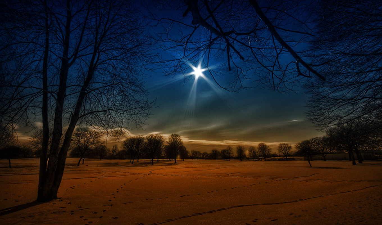 ночь, winter, снег, ночи, небо,