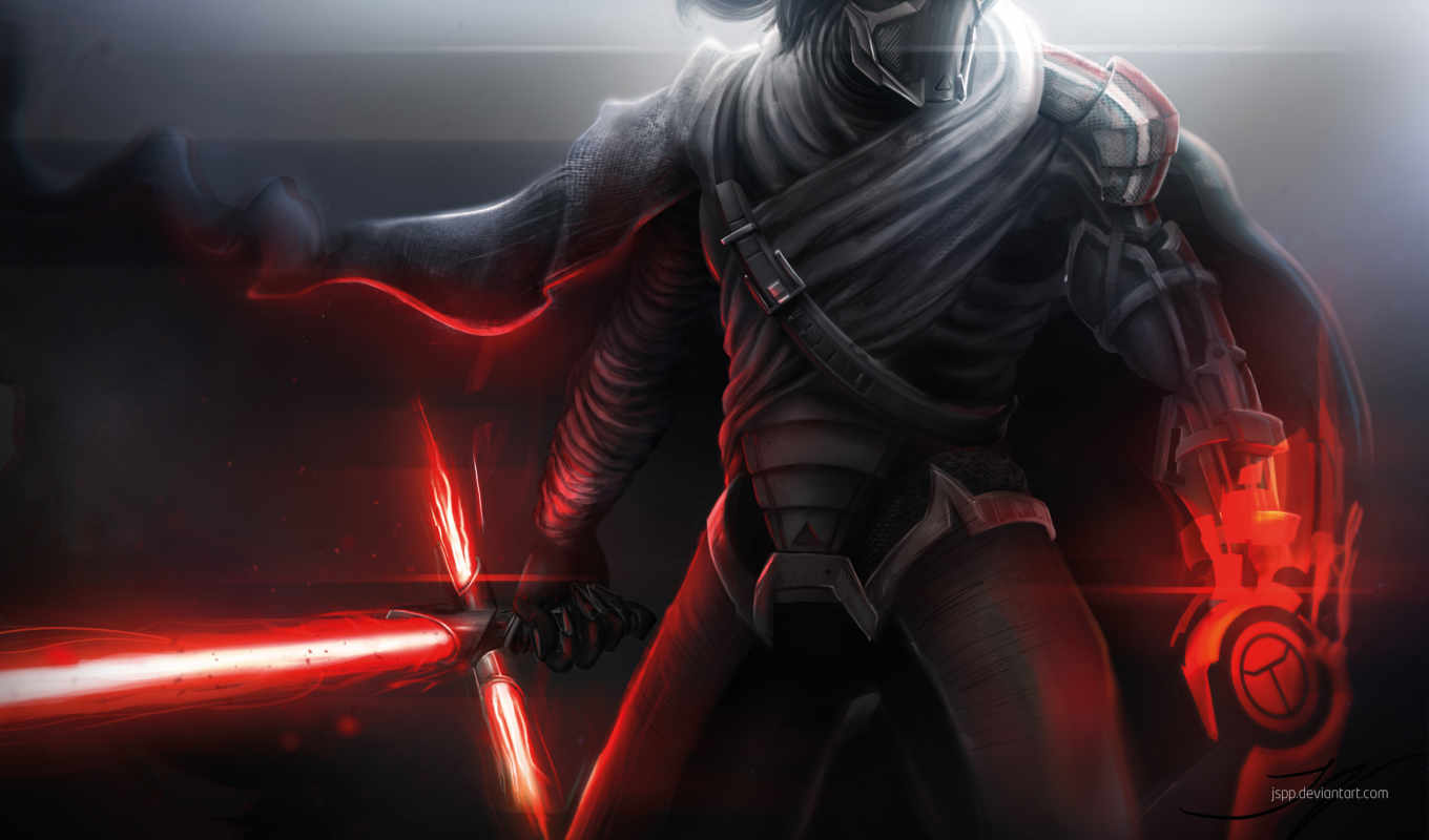 kylo, ren, star, wars, art, jedi, последний,