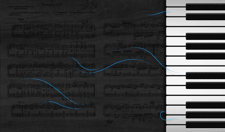 piano, музыка, ключ, mobile, клавиатура, lembaran, фото, нота