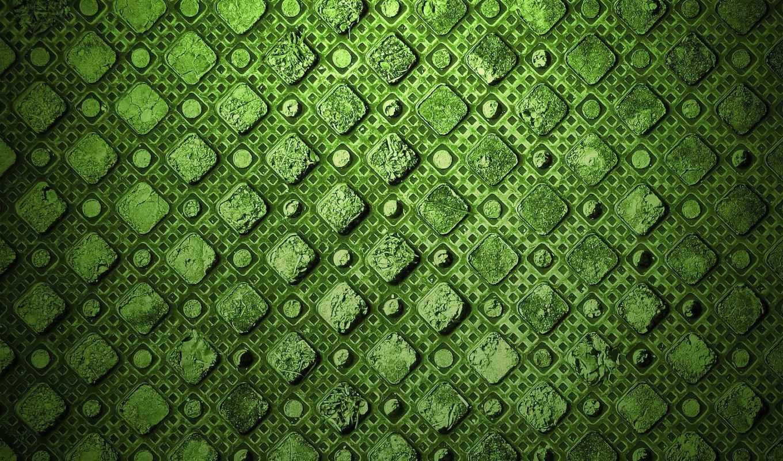 квадрат, камень, трещины, картинка, green, узор, abstract,