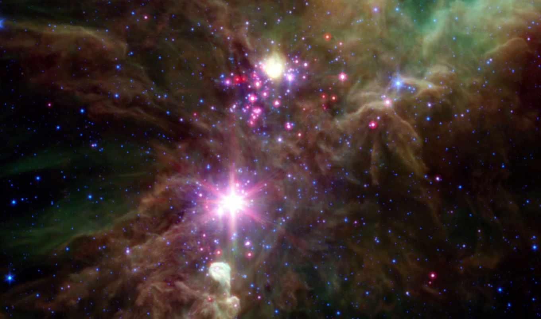 cluster, nasa, snowflake, nebula, christmas, tree, космос, cone, stars, reactor, stellar, spitzer, this,