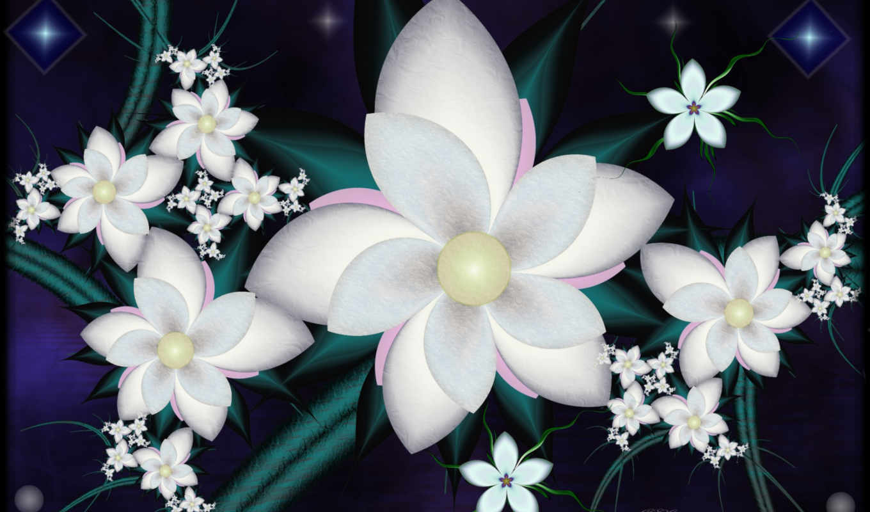 цветы, stainz, обстракция,