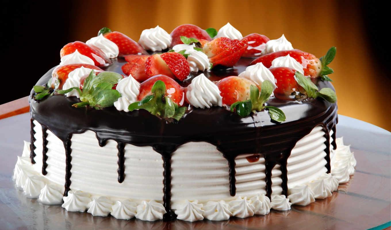 торт, клубника, chocolate,