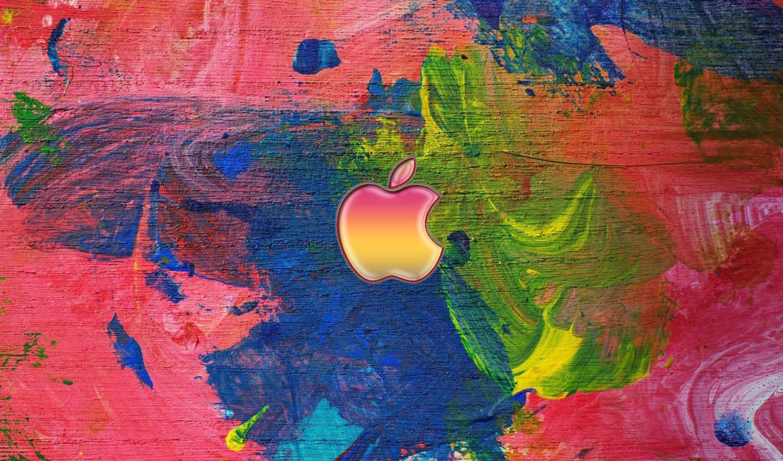 apple, logo, полотно, абстракция
