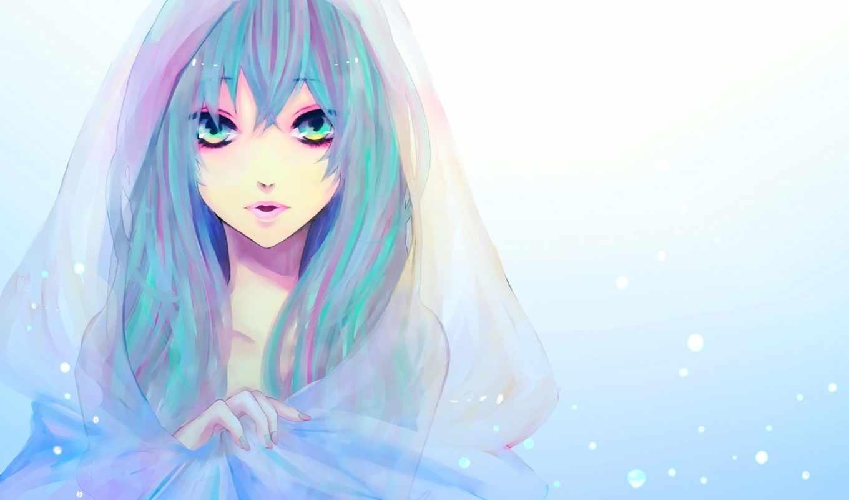 anime, девушка, волосы, голубые, голубыми, свет, hatsune, miku, вокалоид, vocaloid,