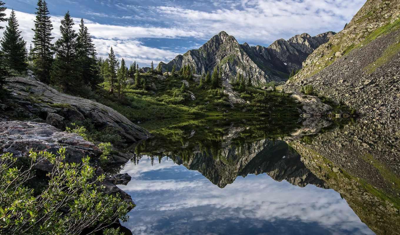 горы, гора, тироль, австрия, каскад,