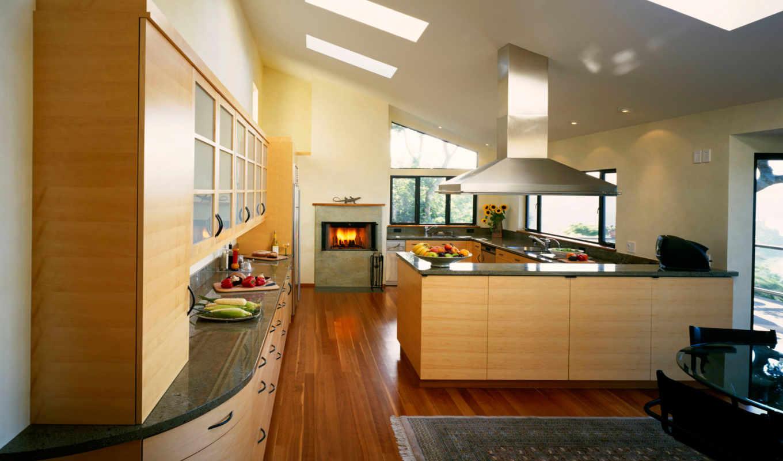 кухня, камин, дизайн, интерьер, комната, еда, стиль, большая, квартира, кухни, интерьеры, вытяжка, камином, интерьере, dekor, wxga, огонь, овощи, области, living,