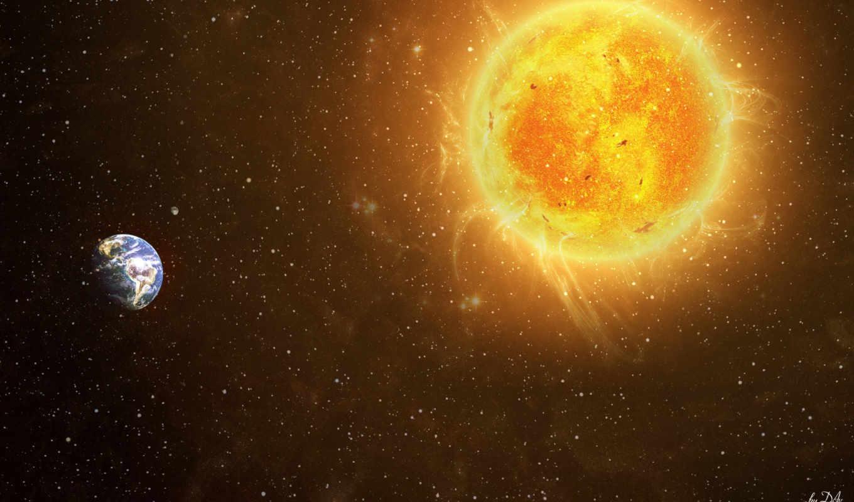 космос, солнце, звезды, земля, картинку, кнопкой, картинка, мыши, правой, смотрите, вселенная,