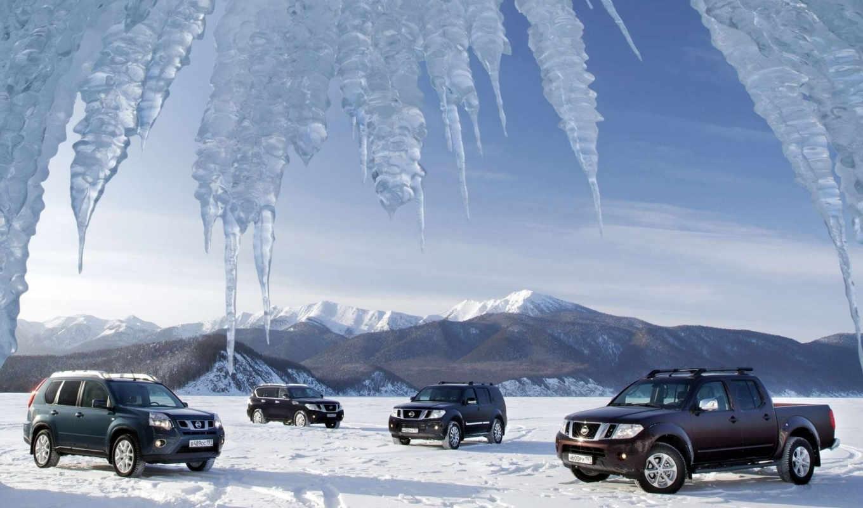 внедорожник, nissan, горы, снег,