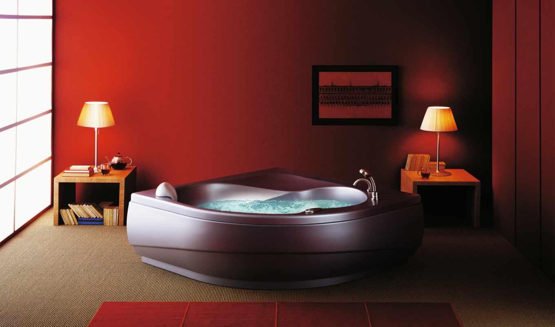 интерьер, ванная, джакузи, wallpaper, ванной, jacuzzi, wxga, дизайн, комнаты, стиль, room, ремонт, стул, dekor, картинка, interior, bathroom, iç,