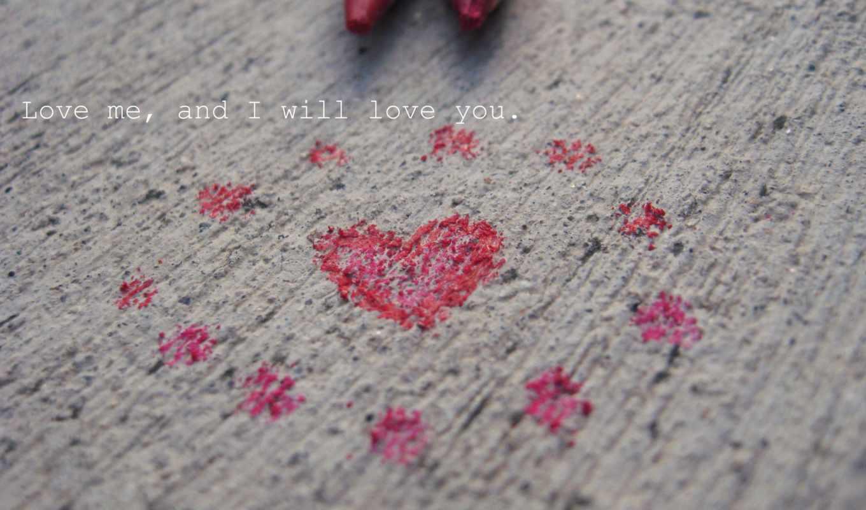 сердце, штукатурка, карандаш, признание