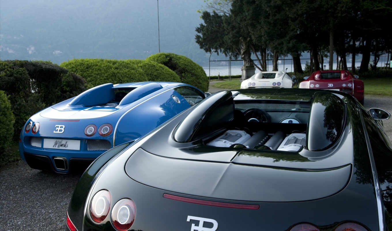 entenaire, bleu, bugatti, veyron red, озеро, editions, blue, bugatti, veyron