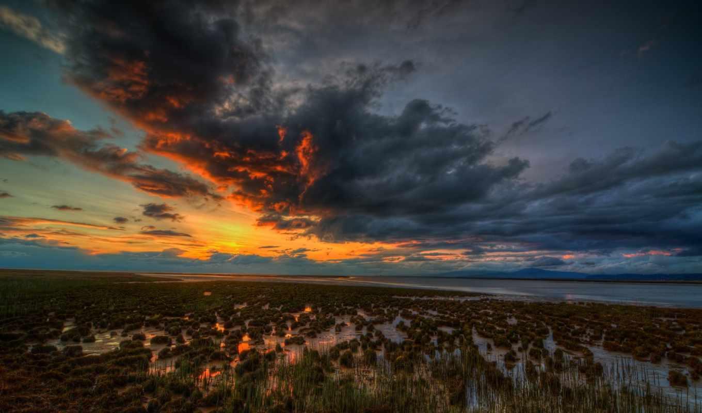 swamp, закат, desktop, harley, high, sunsets,