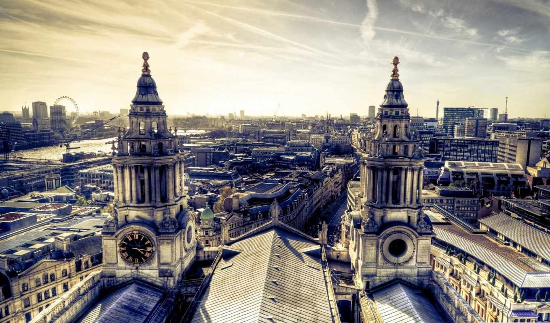 london, обозрения, колесо, лондонский,