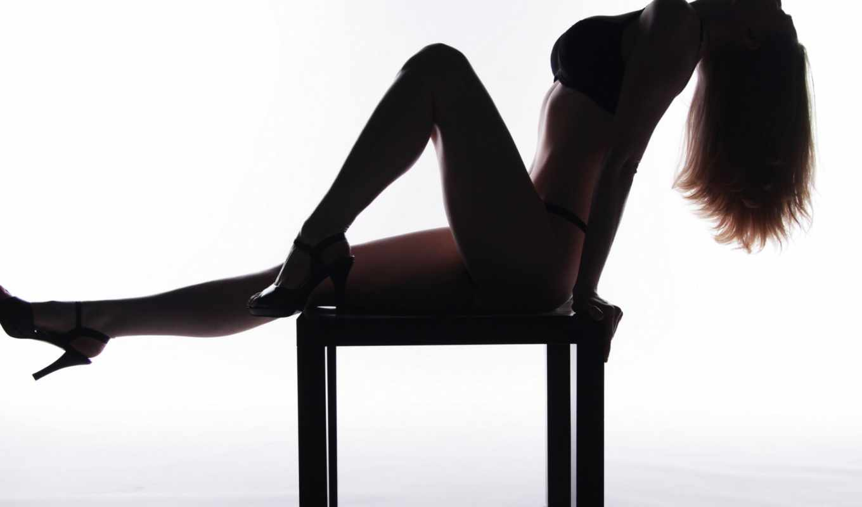 shadow, девушка, поза, волосы, white, ножки, profile, белье, нижнее, изгибы,