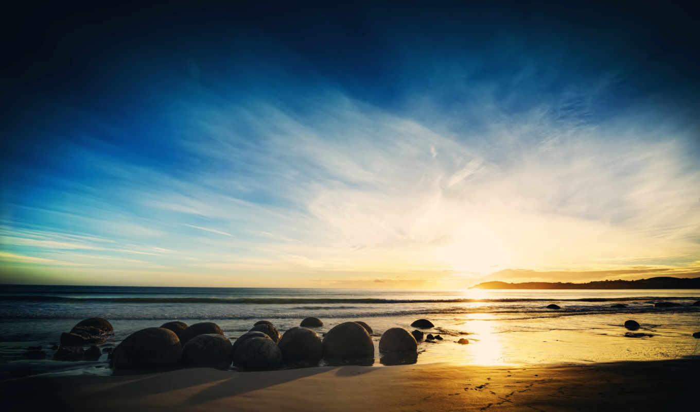 природа, landscape, широкоформатные, water, море, камни, песок, красивые,
