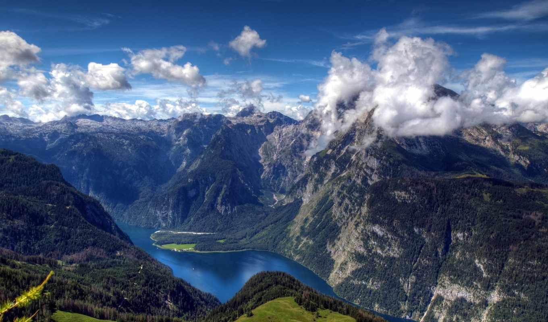 горы, пейзажи, landscapes, clouds, oblaka, mountains,
